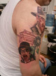 Melting Face Nazi Tattoo 2 by shinigami-sama