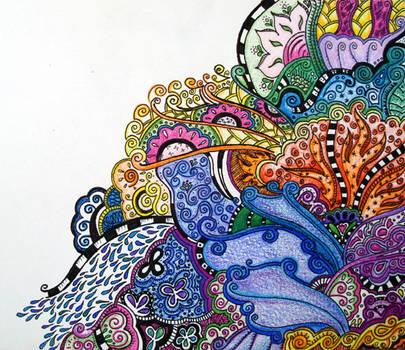 5.25.08 technicolor doodle. by nursenicole