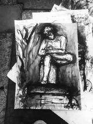 Boy extracting thorn 2018 study of statue by CharaSweetCheeks
