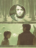 Wolf and Bull ~ Arya Stark and Gendry by dark-fairytale-art