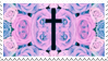 - Stamp: Roses and a cross. - by ChicaTH