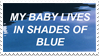 - Stamp: My baby lives in shades of blue. - by ChicaTH