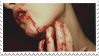 - Stamp: Bloody face. - by ChicaTH