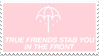 - Stamp: True friends stab you in the front. - by ChicaTH