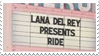 - Stamp: Lana Del Rey presents Ride. - by ChicaTH
