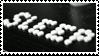 - Stamp: Sleep. - by ChicaTH
