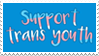 - Stamp: Support trans youth. - by ChicaTH