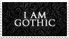 - Stamp: I am gothic. - by ChicaTH