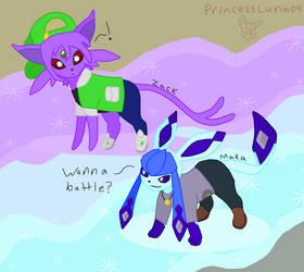 Maka and Zack-Spotted *Colored* by PrincessLuna04