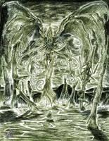 High Priest Cthulhu by CorvenIcenail