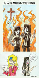 Black metal wedding by the-ChooK