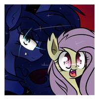 Flutterbat and Luna-Bat by jankrys00
