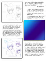 Tinting Lineart in Photoshop by Threshie