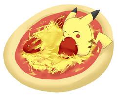 Pikachu Got Pizza by MokonaTenshi