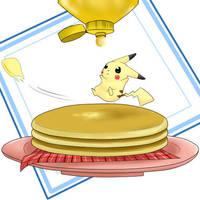 Pikachu Got Pancakes by MokonaTenshi