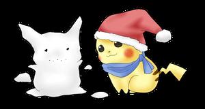 Pika Christmas by MokonaTenshi