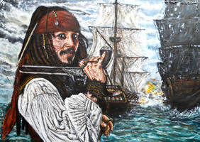 jack sparrow pirates of the caribbean by FDupain