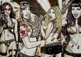 girls and guns by FDupain