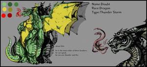 Daubt character seet by riard