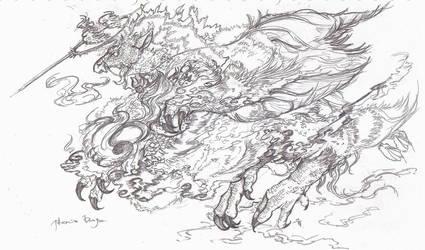 Phoenix dragon by riard