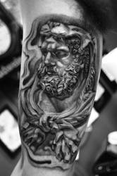 Hercules Greek Mythology Tattoo Designs by TattooSoulcom