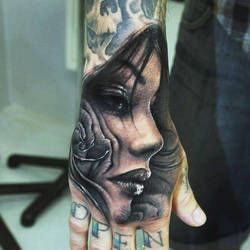 Amazing Tattoo on hand by TattooSoulcom