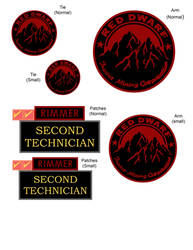 Red Dwarf - Rimmer's Patches by Stitchfan