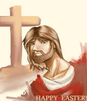 Jesus -happy easter by flaviuss