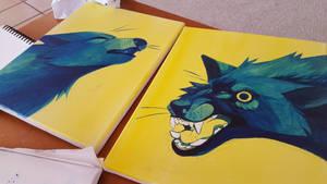 Wolf Paintings by Sweet-n-treat