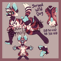 Striped Wild Dog Auction [CLOSED] by Sweet-n-treat