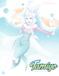 MTG   Disney   Tamiyo Elsa by PolishTamales