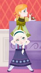 Disney | Frozen | Anna and Elsa | iPhone 5 by PolishTamales