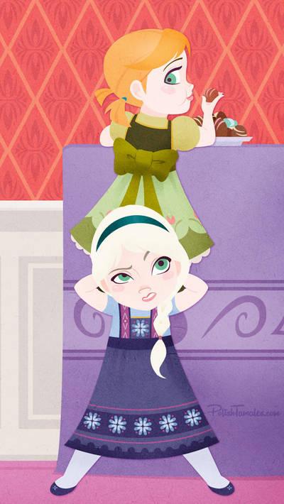 Disney   Frozen   Anna and Elsa   iPhone 5 by PolishTamales