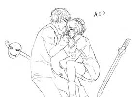 [AxP] Sleep-sketch by DeluCat