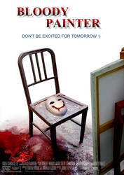 Bloody Painter Movie Poster by DeluCat