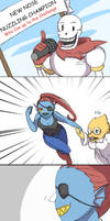 Undertale fun comic 01-Nose Nuzzling Champion by DeluCat