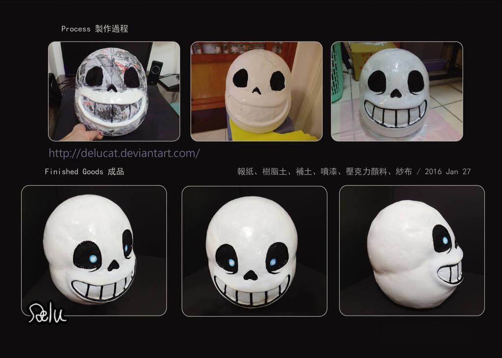 Undertale Sans Cosplay Mask Tutorial by DeluCat