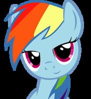 Dat Eyes Rainbow Dash by SlyFoxCl