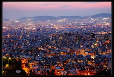 Athens by night by myblue7