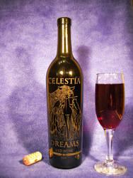 MLP - 'Celestia Dreams' (Engraving Wine Bottle) by Ksander-Zen