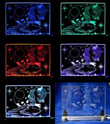 MLP - 'Princess Luna 5' (ENGRAVE + LED SLD) by Ksander-Zen