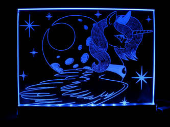 MLP - 'Princess Luna 5' (ENGRAVE + LED) by Ksander-Zen