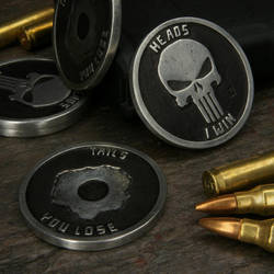Punisher challenge coin pewter by GageCustomKnives