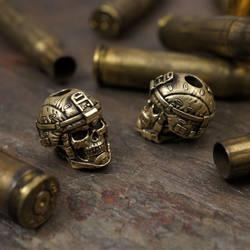 Grunt lanyard bead by GageCustomKnives