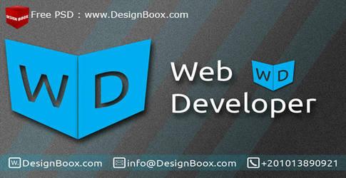 Web Developer Business Card Free PSD Template by DesignBoox