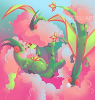 Flygon Fanart by Matousu