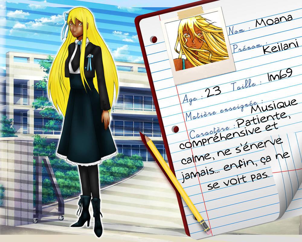 [Seika School] Fiche Keilani MOANA by MaelysTremblay