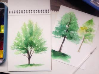 Study_drawing a tree_watercolor by NhacuaDau