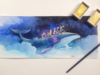 Dream of whale by NhacuaDau