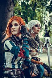Triss and Ciri - Nezrenael cosplay amd Dorachin by SuperStudio8